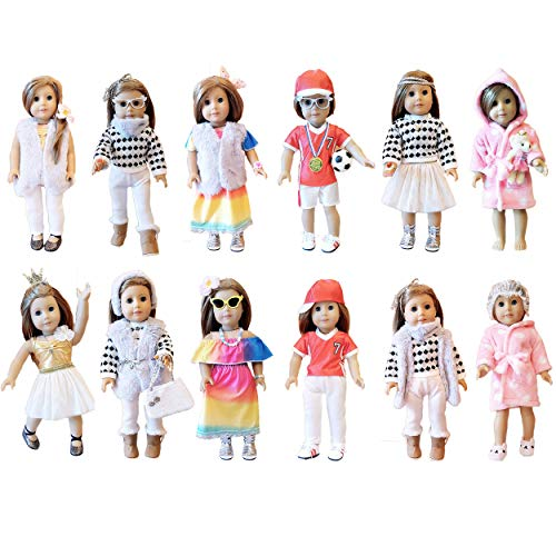 Weardoll 18inch Doll Clothes and Accessories - 35 Items, 18 inch Doll Accessories fits American Girl Doll Accessories, Mylife Doll Accessories