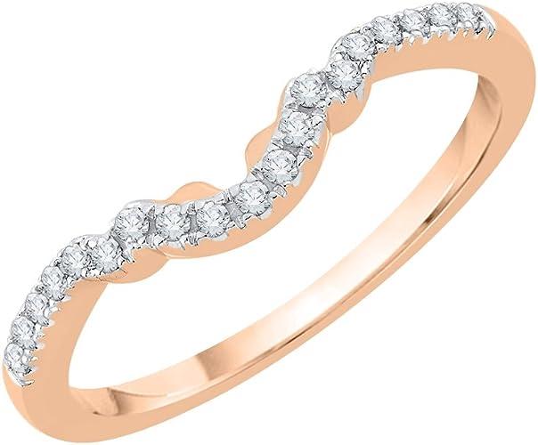 1//10 cttw, Size-7 G-H,I2-I3 Diamond Wedding Band in 14K White Gold