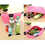 LUQUAN Women Girls Simple Design Portable Zipper Makeup Storage Bag Cosmetics Organizer Bag