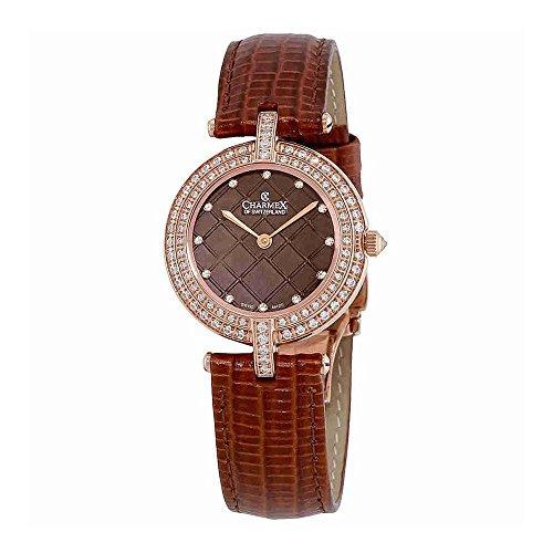 Charmex Las Vegas Diamond Crystal Brown Dial Ladies Watch 6393
