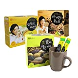 DAMTUH Breakfast Meal Replacement Energy Drink Set, Walnut Almond Adlay Tea + Roast Grain with Yam Tea + Sweet Pumpkin with Yam Tea
