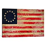 iCanvasART 1-Piece Betsy Ross US Flag 13 Stars
