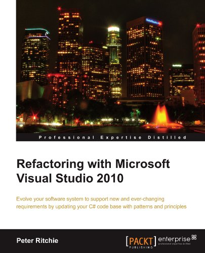 [PDF] Refactoring with Microsoft Visual Studio 2010 Free Download | Publisher : Packt Publishing | Category : Computers & Internet | ISBN 10 : 1849680108 | ISBN 13 : 9781849680103