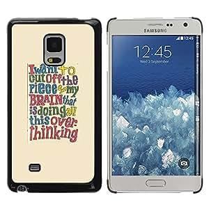 """Pulsar Snap-on Series Teléfono Carcasa Funda Case Caso para Samsung Galaxy Mega 5.8 , Cita cerebro texto inteligente"""""""