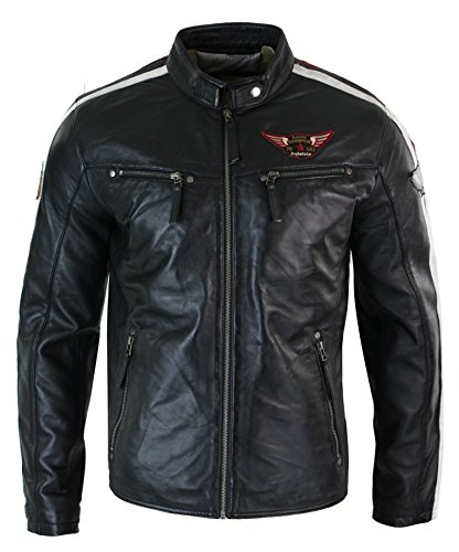 Mens Leather Racing Jacket - 9
