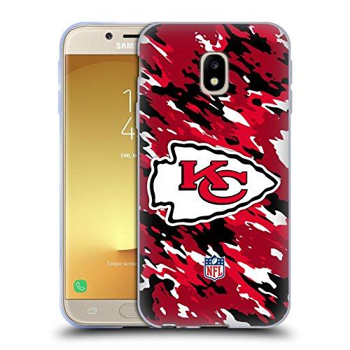 Official NFL Camou Kansas City Chiefs Logo Soft Gel Case for Samsung Galaxy J3 (2017)