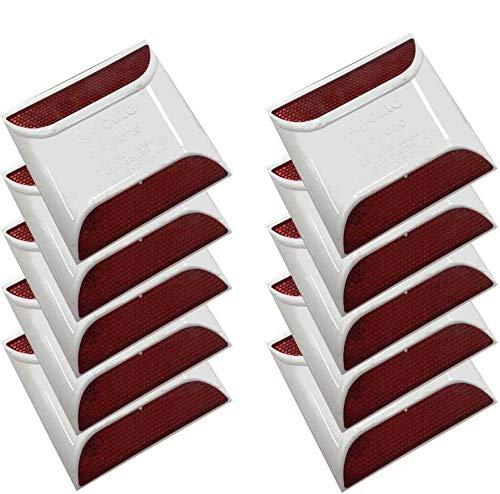 Rayolite 2-Way Red Reflective Pavement Marker- Round Shoulder ()