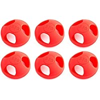 6 x Quantity of Helicopter Quadcopter Airplane Boat Car Controller Mushroom Antenna Protective Jacket Red KingKong Universal Version 5.8Ghz Protector