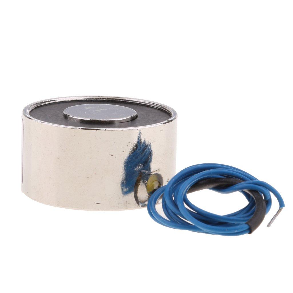 DC 12V 100N FITYLE Electroimanes Electromagn/éticos de CC Electroimanes de elevaci/ón 5 tipos Im/án el/éctrico de elevaci/ón con bobina