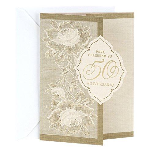 Hallmark Vida Spanish 50th Anniversary Greeting Card (50th in Diamond)