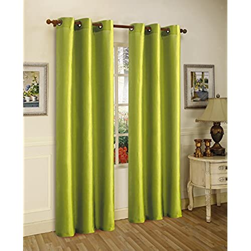 green curtains for living room. Gorgeous Home  DIFFERENT SOLID COLORS SIZES 72 2 PANELS THERMAL FOAM LINED BLACKOUT HEAVY THICK WINDOW CURTAIN DRAPES BRONZE GROMMETS LIME Green Curtains For Living Room Amazon com