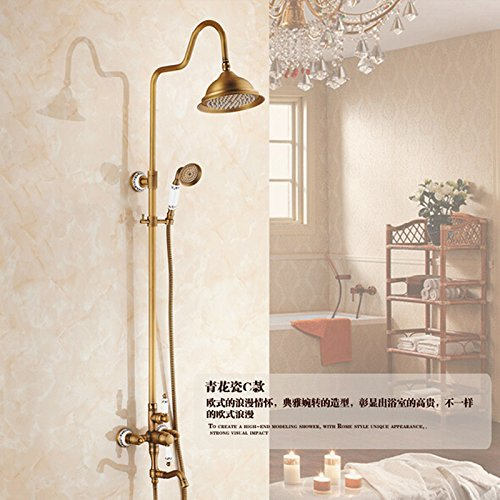 Style 3 Electroplating Retro Faucet New US Free Shipping Wholesale And Retail Classic Chrome Finish Wall Mounted Bathtub Telephone Faucet Mixer Tap W Spary Shower,Style 1