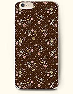 iPhone 6 Plus Case 5.5 Inches Snowflake and Heart and Bright Flowers - Hard Back Plastic Case OOFIT Authentic