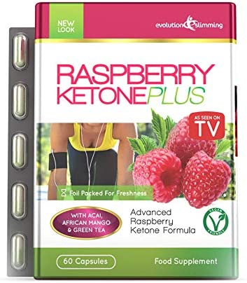 Evolution Slimming Diätmittel Himbeere Keton Plus - Packung mit 60 Kapseln