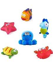 5c16326363 Giocattoli da bagno Galleggianti da bagno per pesci, stelle marine,  cavallucci marini (6PCS