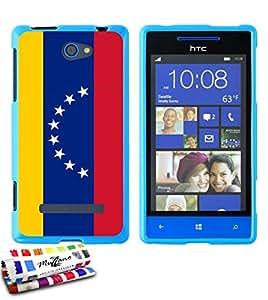 Carcasa Flexible Ultra-Slim HTC 8S de exclusivo motivo [Venezuela Bandera] [Azul] de MUZZANO  + ESTILETE y PAÑO MUZZANO REGALADOS - La Protección Antigolpes ULTIMA, ELEGANTE Y DURADERA para su HTC 8S