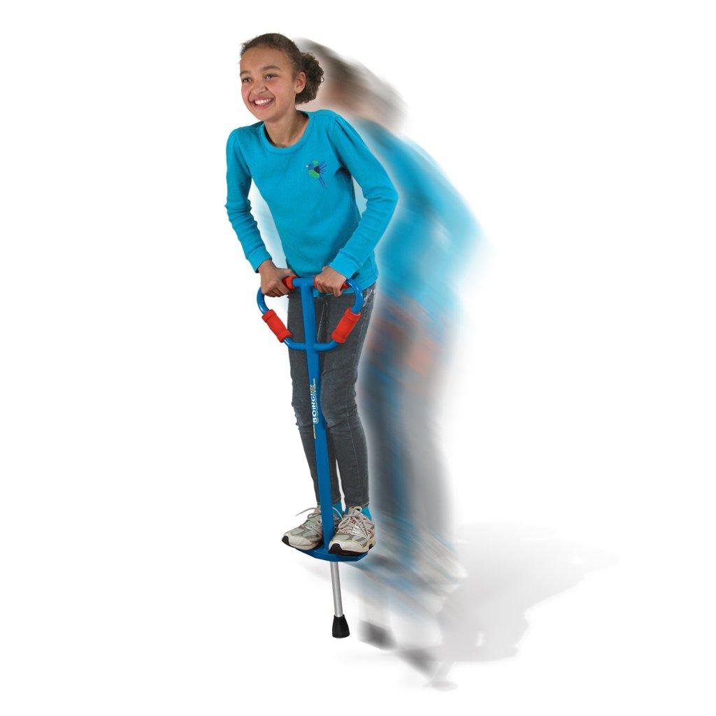 Medium Jumparoo Boing! I Pogo Stick by Air Kicks for Kids 60 to 100 Lbs, BLUE