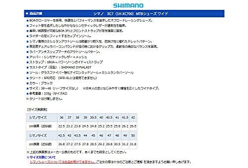 Shimano Scarpa Shimano MTB SH-XC700 Unisex Black 48 Wide