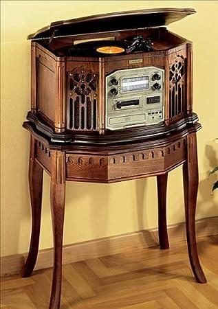 Nostalgie de música Center con Mesa 4 in1 Tocadiscos CD Player ...