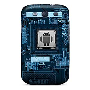 New Android Electronics Tpu Case Cover, Anti-scratch LAJMrmX7734FBKdF Phone Case For Galaxy S3