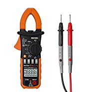 MS2108A Clamp Meter, Digital 400A AC/DC Clamp Meters AC/DC Voltmeter Capacitor Ammeter Ohmmeter Tester LCD Backlight Electric Tester