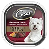 Cesar Entrees with Filet Mignon Food for Dogs, 24 Pack/100g