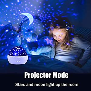 Make sure this fits by entering your model number. UNIQUE DESIGN -- Unlike other products, our lamp bead does have last long lifetime. Can project up 15ft, 250 square feet of the house can see the clear pattern. Lights can be adjusted freely, the brightness of the light is not dazzling and will not affect the kids sleep.DREAM ROTATING CHILD MODE PROJECTION LAMP-- Covered with a dome cover, the starlight and unicorn projector can be used as a nightlight. The quiet star projector lamp will not be noisy, place it in your children room, helping to drive away darkness for them.so that it can help parents coax the baby fall into a deep sleep quickly.