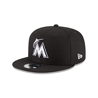 excellent quality latest design new release Amazon.com: New Era Miami Marlins MLB Basic Snapback Black White ...