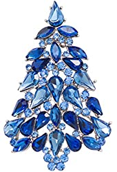 Multicolor Crystals Rhinestone Brooch Women Jewelry Christmas Tree Broaches Pins Christmas Gifts P5458