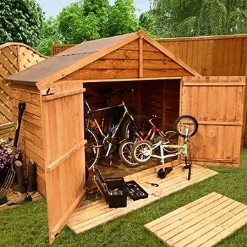 BillyOh - Cobertizo para bicicletas (92, 3 x 223, 9 cm, machimbre, extraancho): Amazon.es: Jardín
