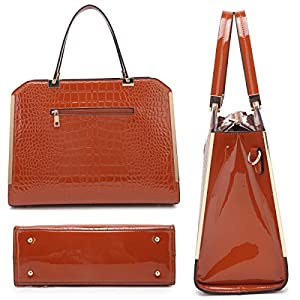 MMK collection Fashion TOP handle Handbag with Free wallet set for Women~Signature fashion Designer Purse~ Beautiful Designer Purse & Women Satchel Purse (10-6900-CF)
