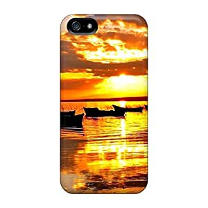 Premium [ieS8501lKDu]boats At Sunset Case For Iphone 5/5s- Eco-friendly Packaging