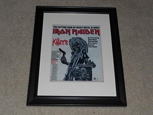 Tour Dates Poster (Iron Maiden Killers 1981 Advertisement Framed Print Tour Poster 14