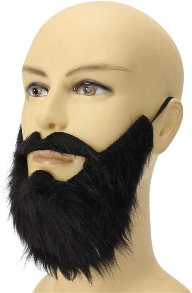 AimdonR Costume de f/ête Humoristique Homme Barbe Halloween Costume Visage Shaar Noir Moustache Top Qualit/é