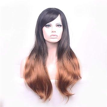 Perruque De Cheveux Longs Et Bouclés Pour Femmes Dans Le Dégradé De