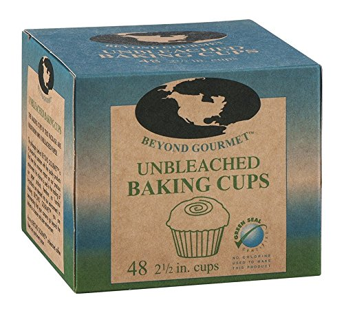 Beyond Gourmet Baking Cups - Large 2.5 in - Unbleached - 48 Count - Case of 3