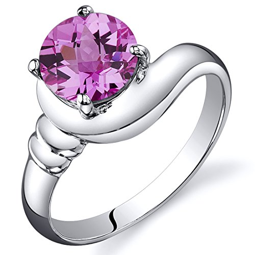 Created Sapphire Modern Sterling Rhodium product image