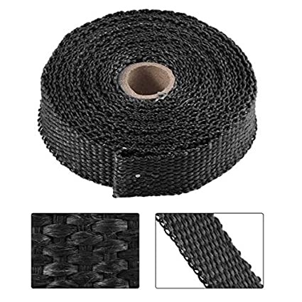 Black For Car Truck Boat Universal Exhaust Header Heat Wrap With Stainless Ties