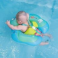 Free Swimming Baby Inflable flotador para niños. Anillo inflable de cintura para alberca para niños de 3–72meses, Verde, L