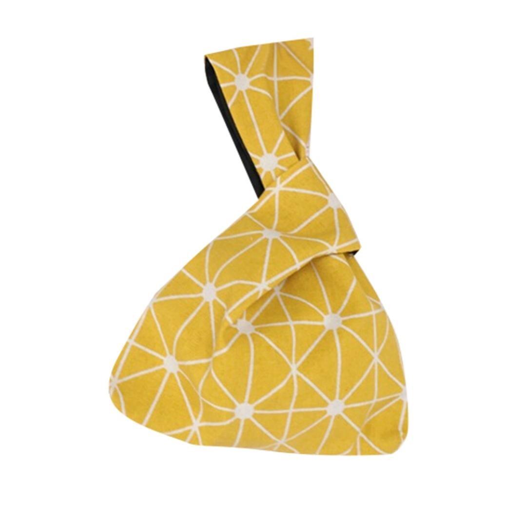 Masrin Fashion Women Girls Canvas Causal Shopping Handbag Coin Purse Key Package Retro Hanging Bag