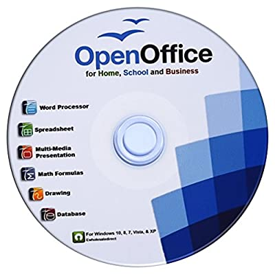 Open Office Suite CD with PDF Software and Computer Guide for Microsoft Windows PC