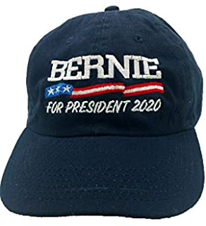 Bernie Sanders for President 2020- Navy Blue Hat Cap- Low Profile-  Adjustable ea781a889778