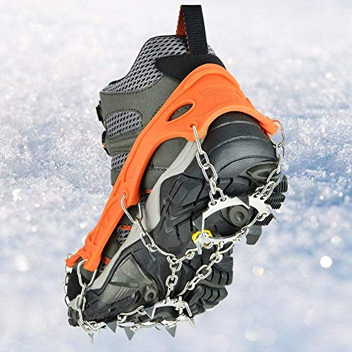 szlzhsm Crampons Universal Flexible Anti-Slip Ice Grips Snow