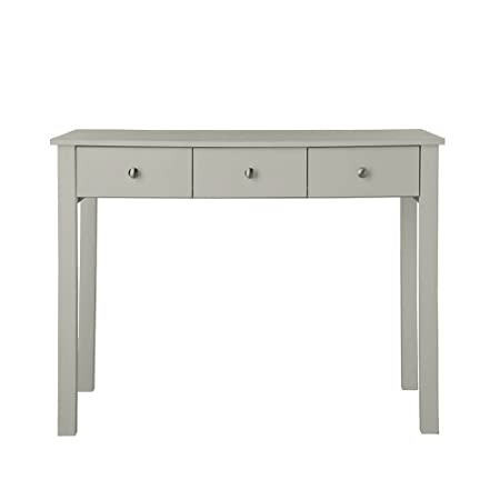 modern shaker furniture. P\u0026N Homewares Hailey Dressing Table In Grey | With 3 Drawers Desk For Bedroom Modern Shaker Furniture