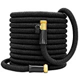 Besiter Expandable Garden Hose-New 2018 100ft {UPGRATED} Expanding Hose with 3/4 Heavy Duty Brass Connectors-Lightweight and Kink Free Flexible Water Hose for Lawn Car Washing & Commercial Use Black