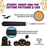 Vita for Home 4-Piece Reusable Stainless Steel Pumpkin Carving Tools Kit
