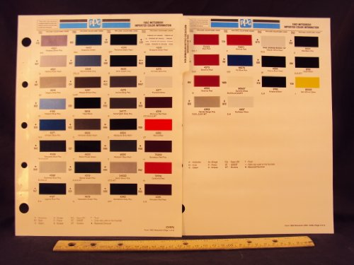 1992 92 MITSUBISHI IMPORTED Diamante, Mirage, Expo, Galant, Precis, Eclipse, Expo LRV, 3000 GT, Montero, & Truck Paint Colors Chip Page