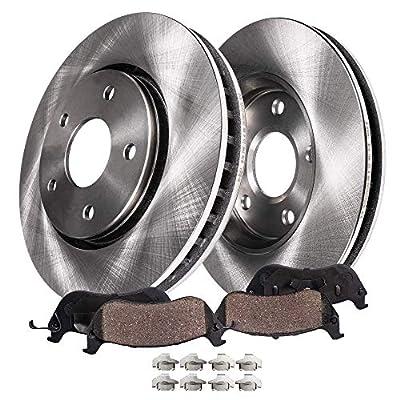 Detroit Axle - Front Brake Kit Rotor Set & Brake Kit Pads w/Clips Hardware Kit Premium GRADE for 2006-2012 Ford Fusion - [06-12 Lincoln MKZ, Zephyr] - 2006-2013 Mazda 6 NO MazdaSpeed - [06-11 Milan]: Automotive