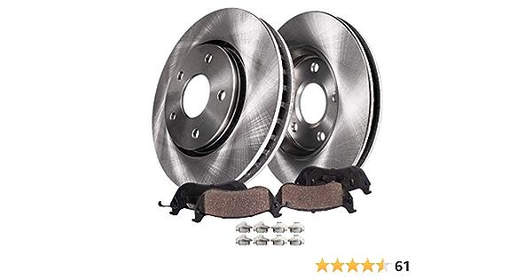 4WD Front Disc Brake Rotors /& Ceramic Pads w//Clips Hardware Kit Premium GRADE for 2003-2011 Ford Ranger - - 03-07 Mazda B3000 - Detroit Axle 03-09 B4000 0105 Ford Explorer Sport Trac 4WD