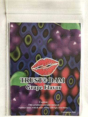 Trustex Latex Dams Dental Dams Grape Flavor 12 count